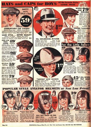 Schiebermützen, Hüte und Fliegerkappen z.B. für den Rennsport für junge Männer.