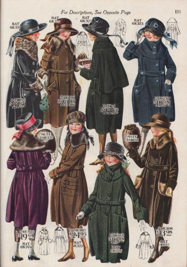 Wintermäntel für Mädchen zwischen 8 und 14 Jahren.