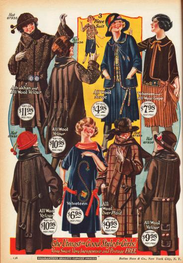 Kostüme, Kleidchen und Mäntel im Stil der großen Damen.