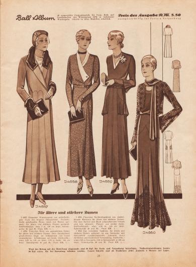 Lange Röcke und konservativere Kleider für verschiedene Anlässe für die ältere, elegante Dame.
