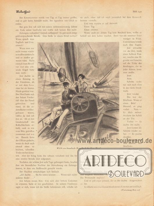 Artikel:Jung, Hans, Der Bräutigam auf Probe.Mit einer Illustration von Siggel.