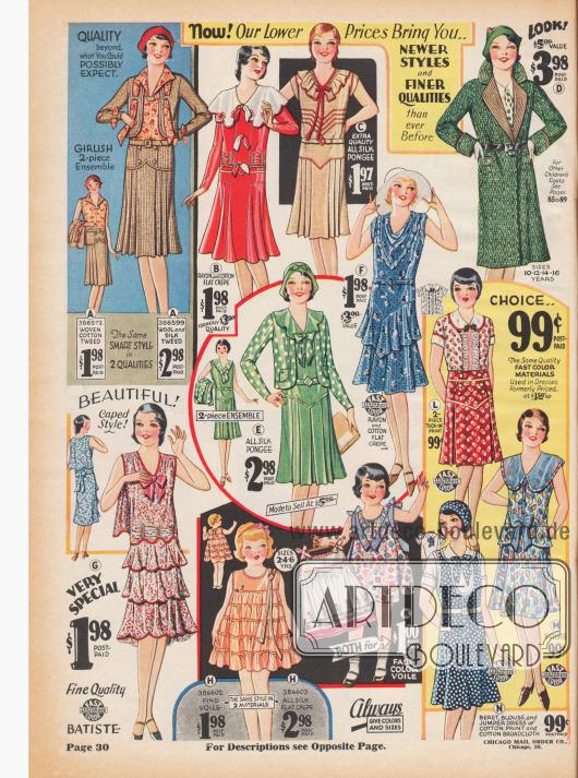 Kleider für Mädchen von 2 bis 14 Jahren.