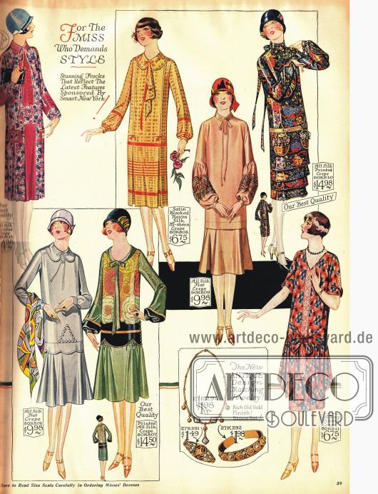 Modische Kleider für die junge Frau.
