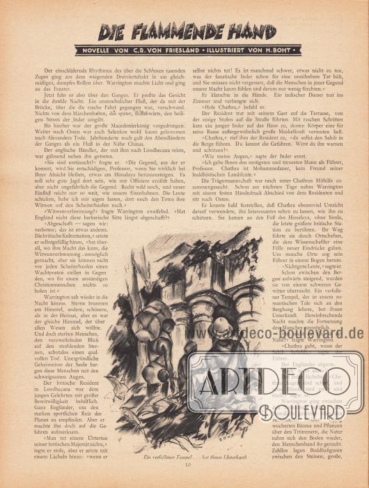 Artikel (Novelle):Friesland, C. R. von, Die flammende Hand.Illustration: Boht.