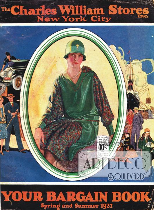 Titelseite bzw. Cover des Frühjahr/Sommer Versandhauskatalogs der Firma Charles William Stores Inc. aus New York City, New York, USA von 1927.
