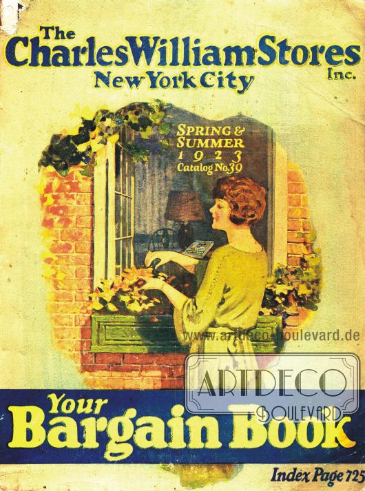 Cover des Frühjahr/Sommer Katalogs der Firma Charles William Stores Inc. von 1923.