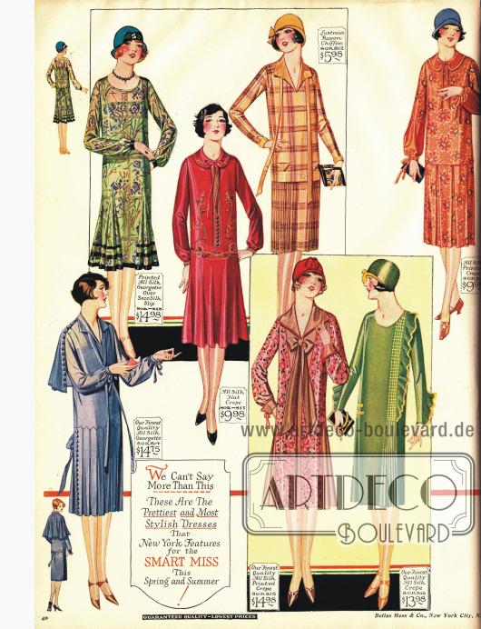 Phantasievolle Kleider für die junge Frau.