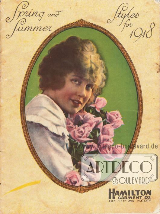 Cover des Frühjahr/Sommer Katalogs der Firma Hamilton Garment Co. von 1918. Foto: unbekannt.