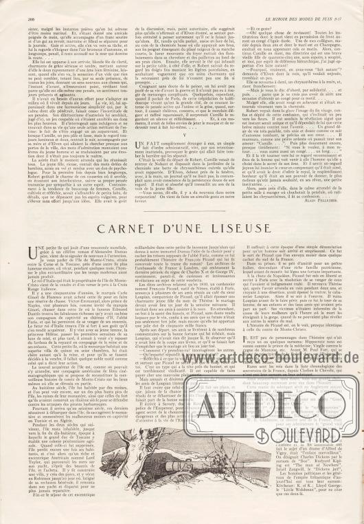 Artikel:Pelletier, Alain, L'Usurpateur (nouvelle inédite)&#x3B;O. V., Carnet d'une Liseuse.