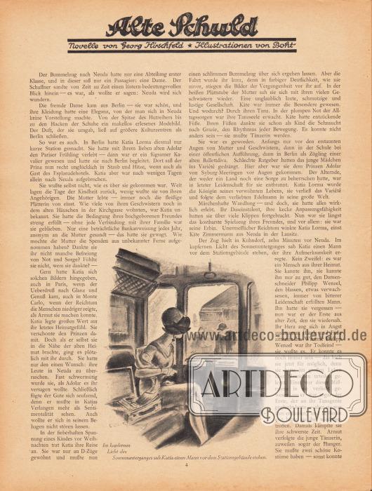 Artikel (Novelle):Hirschfeld, Georg, Alte Schuld.Illustration: Boht.