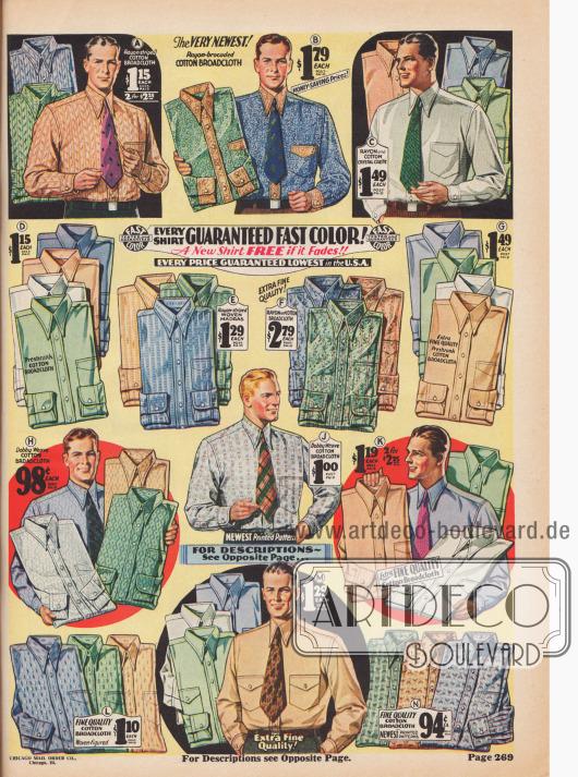 Hemden für Herren - nicht nur in weiß erhältlich, sondern auch in vielen anderen Farben und Dessins.
