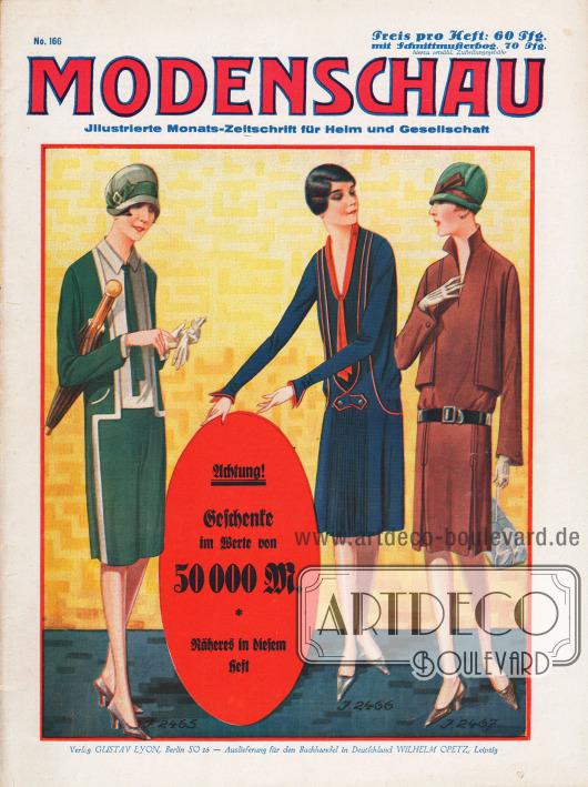 Titelseite der deutschen Illustrierten Modenschau Nr. 166 vom Oktober 1926.