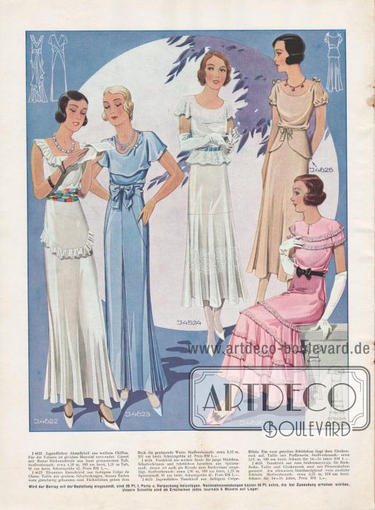 Abendkleider für junge Damen bis 20 Jahre.