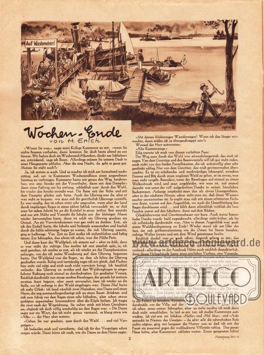 Artikel:Erich, H., Wochen-Ende.