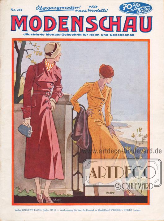 Titelseite der deutschen Illustrierten Modenschau Nr. 242 vom Februar 1933.