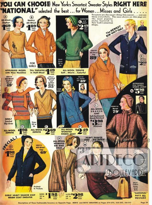 Wärmende Pullover z.B. für Sport für Frauen und Mädchen.