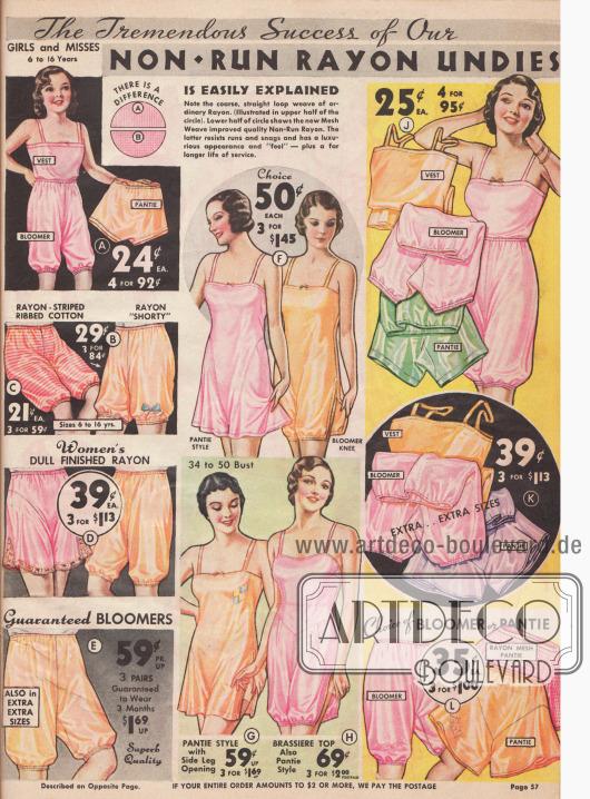 Höschen, Pumphöschen, Unterkleider und Hemdhosen aus Rayon zu günstigen Preisen.