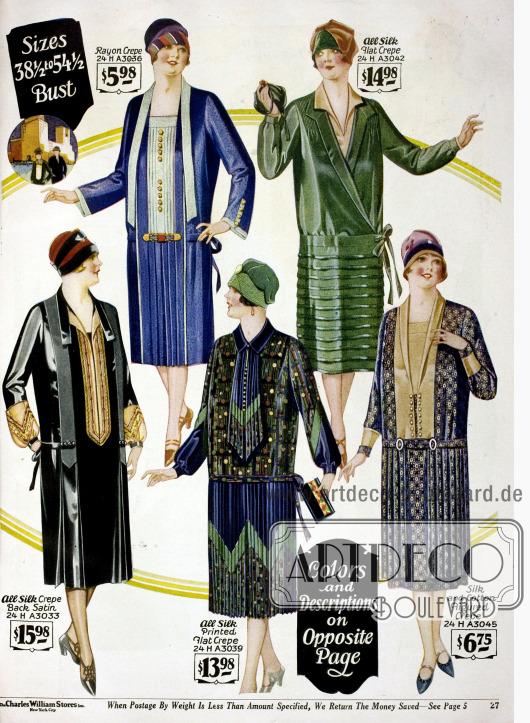 Kleider für stärker gebaute Frauen sind interessanterweise konservativer im Stil und die Rocksäume sind deutlich länger als bei vergleichbaren Kleidern für schlankere Frauen.