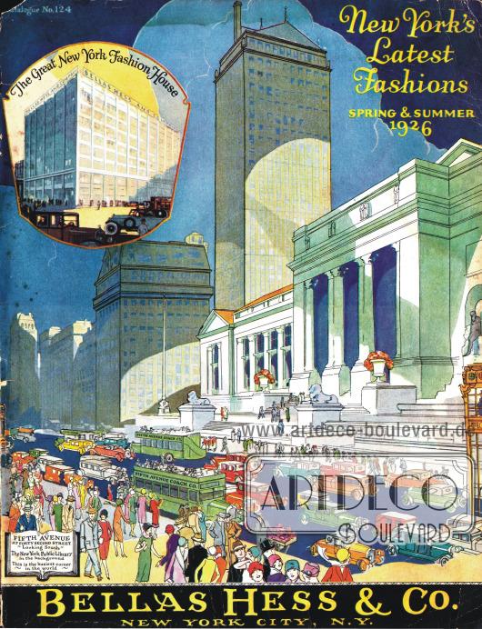 Cover des Frühjahr/Sommer Versandhauskatalogs der Firma Bellas Hess & Co. von 1926.