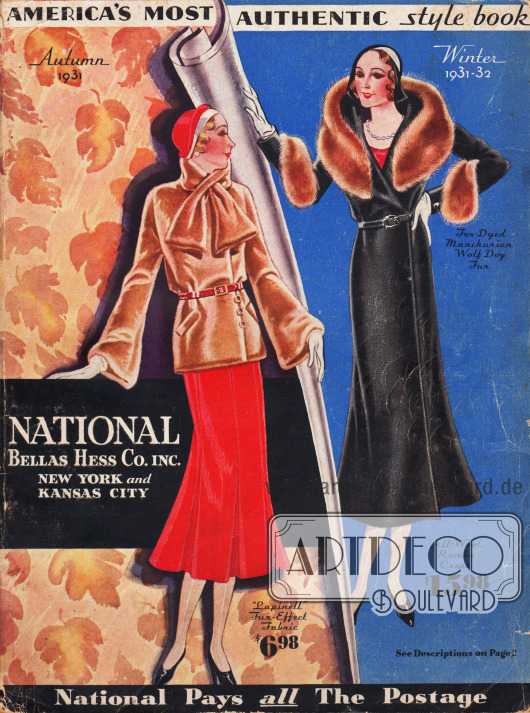Cover des Herbst/Winter Versandhauskatalogs der Firma National Bellas Hess Inc. von 1931.