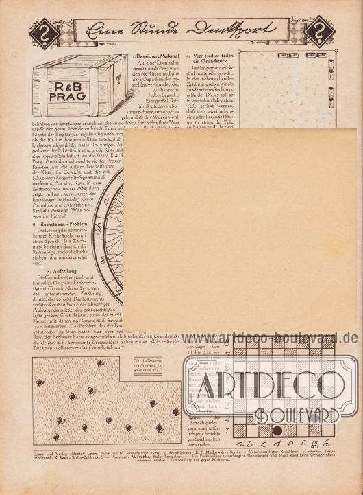 Lose beiliegende Postkarte: Unbedruckte Rückseite der Postkarte (Maße: 14,5 x 12,7 cm / 5,71 x 5,00 in) zum Bestellen per Nachnahme von Schnittmustern und Abplättmustern.
