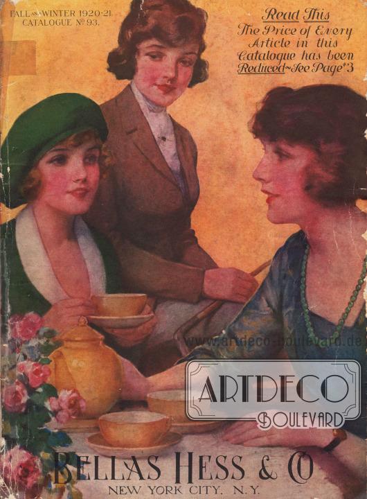Cover des Herbst/Winter Versandhauskatalogs der Firma Bellas Hess & Co. von 1920.