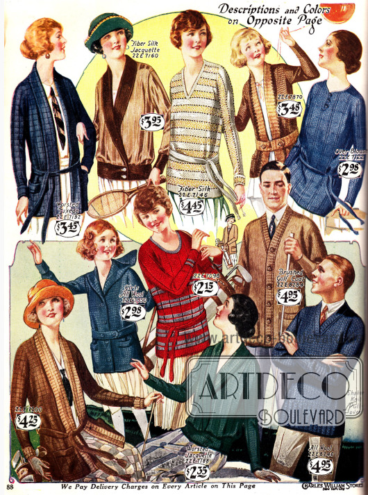 Gestrickte Pullover für Männer und Frauen.