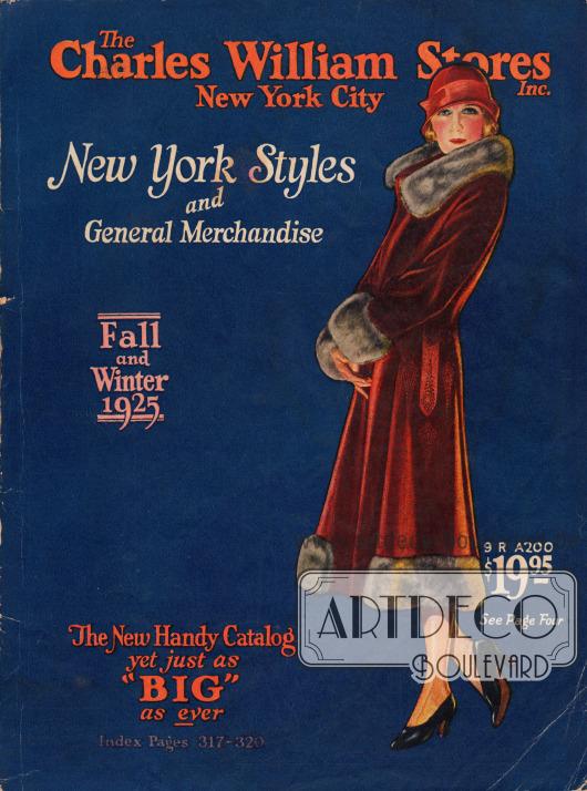 Titelseite bzw. Cover des Herbst/Winter Versandhauskatalogs der Firma Charles William Stores Inc. aus New York City, New York, USA von 1925-26.