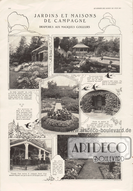 Bilder:Jardins et maison de campagne. Draperies aux magiques couleurs.Fotos: unbekannt.