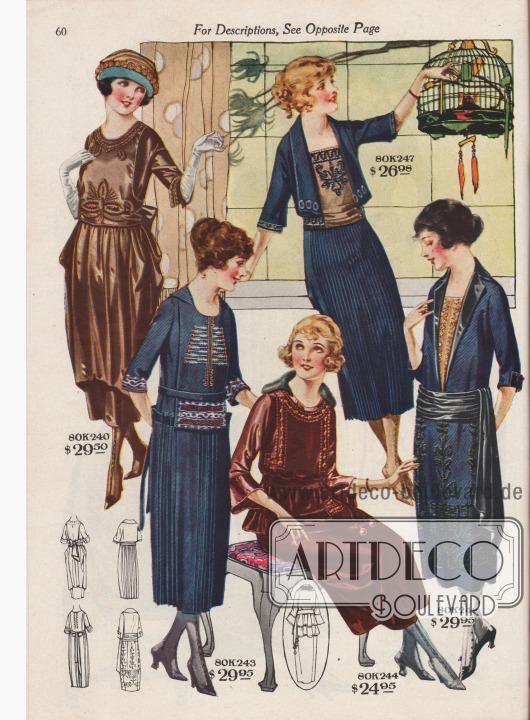 Kleider für die junge Damen.