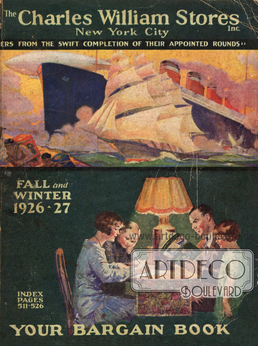 Titelseite bzw. Cover des Herbst/Winter Versandhauskatalogs der Firma Charles William Stores Inc. aus New York City, New York, USA von 1926-27.
