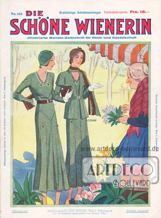 Titelseite der österreichischen Illustrierten Die Schöne Wienerin Nr. 232 vom April 1932.