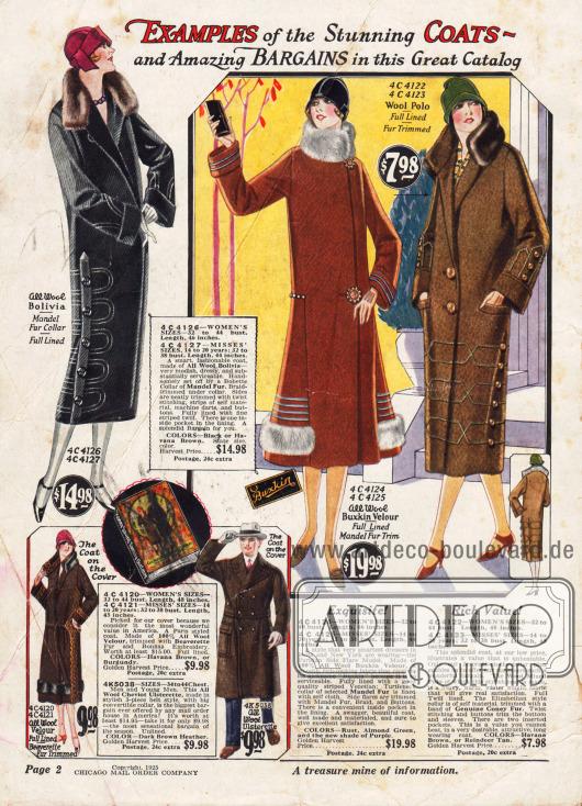 """Eine kleine Auswahl an """"umwerfenden Mänteln"""" gibt einen Vorgeschmack auf die Angebote im Katalog."""