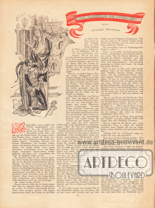 Artikel:Raymond, Eduard, Der Narr und die Prinzessin.