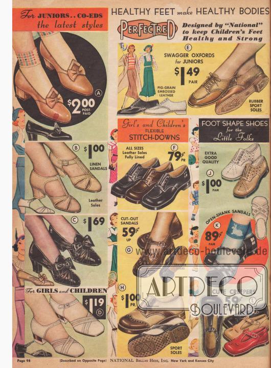 Feine Schuhe für größere und kleine Mädchen.