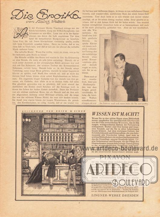 Artikel:Welten, Heinz, Die Eroika.Werbung:Pixavon Haarshampoo, Lingner-Werke Dresden.