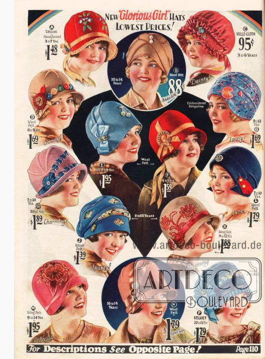 Hüte für die kleine Dame.