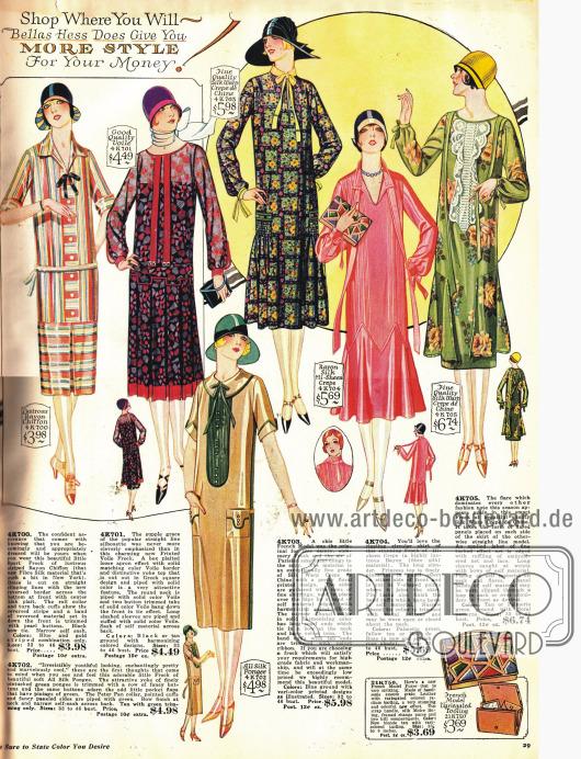 Typische Flapper Kleider für die Frau kleiner als 1,63 m.