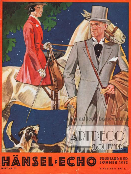 Titelseite der Frühjahr/Sommer Ausgabe des Firmenmagazins Hänsel-Echo Nr. 11 von 1932.Zeichnung: Harald Schwerdtfeger.