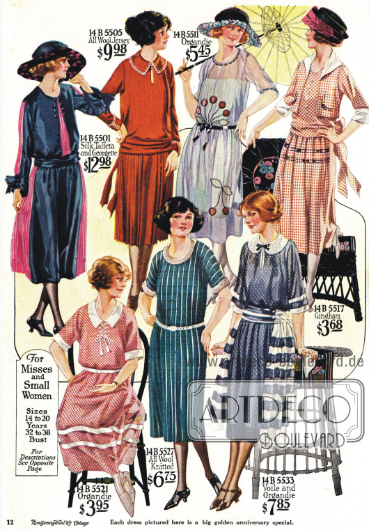 Kleider für junge Frauen zwischen 14 und 20 Jahren.