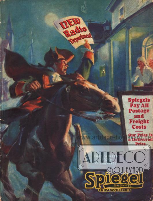 Cover des Herbst/Winter Versandhauskatalogs der Firma Spiegel, May, Stern & Co. von 1929-30.