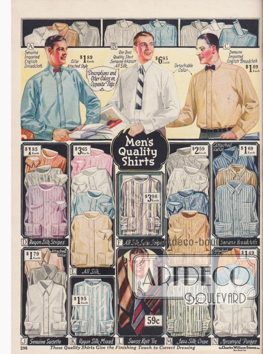 Anzughemden gestreift und einfarbig.