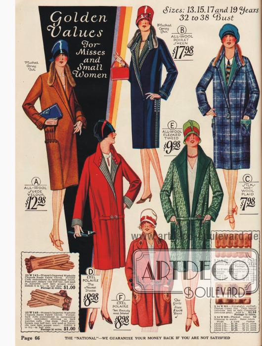 Kleidsame Frühjahrsmäntel für die modebewusste Dame mit teilweise leichtem Pelzbesatz.