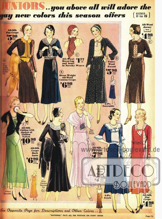 Kleider für die junge Frauen.