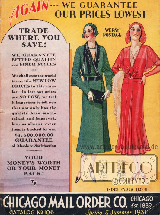 Cover des Frühjahr/Sommer Katalogs der Firma Chicago Mail Order von 1931.