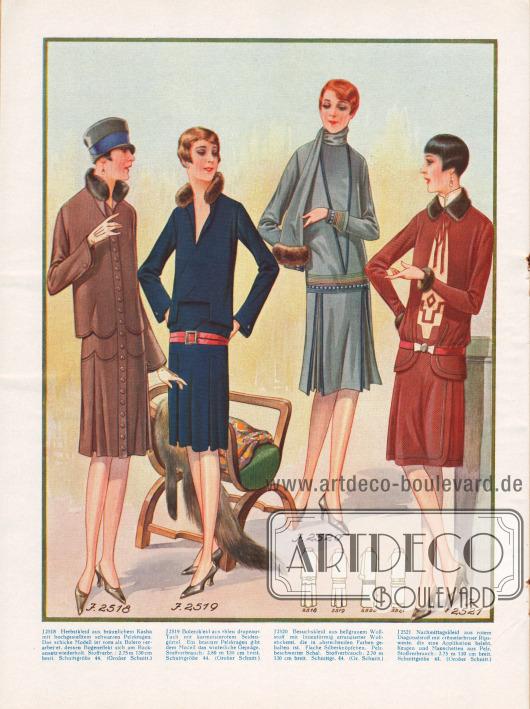 Herbstkleider für verschiedene Anlässe.