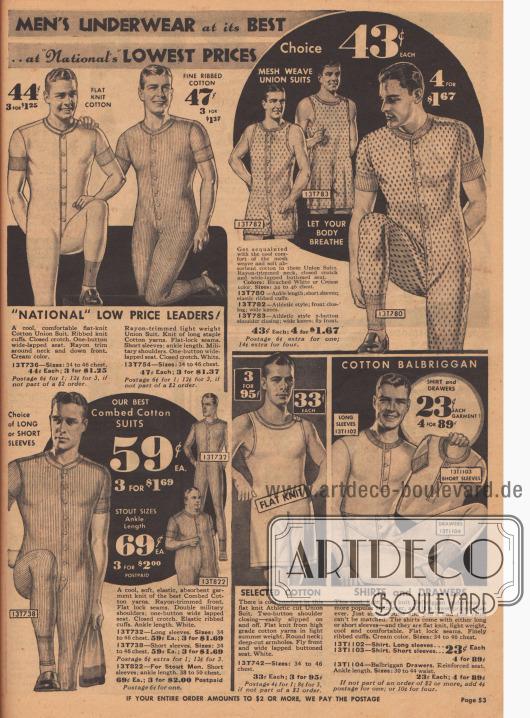 Hemdhosen mit Knopfleisten für Männer.