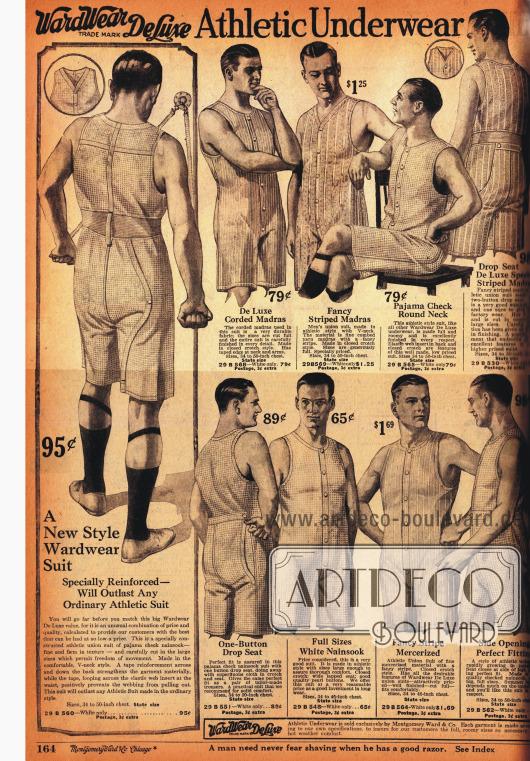 Männerunterwäsche für sportliche Aktivitäten.