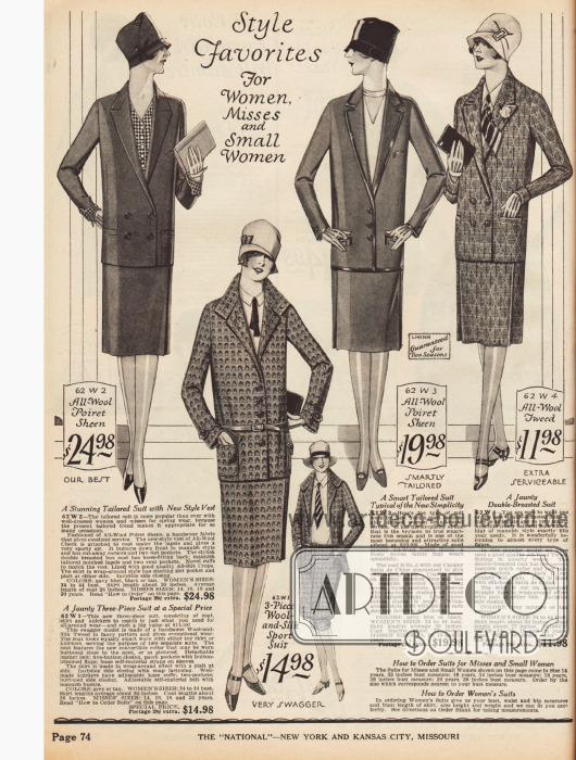 Für die arbeitende Frau ist das geschneiderte Kostüm ein wichtiger Bestandteil der Garderobe.