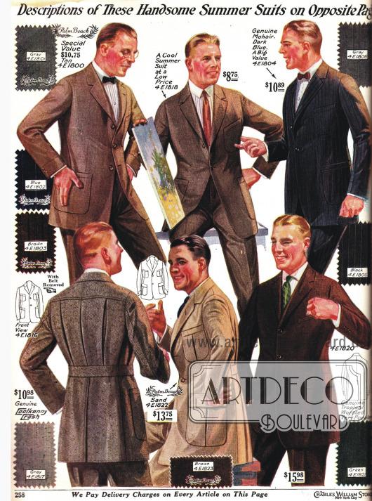 Hoch Taillierte und eng geschnittene Herrenanzüge.